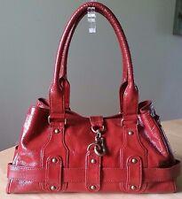 Helen Welsh Red Patent Leather Handbag Medium Handbag Bag Purse