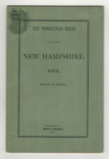 1901 THE HOMESTEAD RIGHT New Hampshire NH Louis Hoyt EDSON EASTMAN Concord LAW