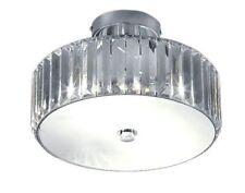 Plafonniers et lustres transparents en métal pour la maison