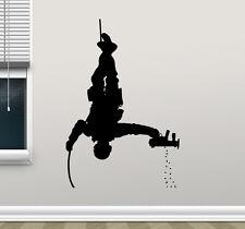 Soldier Wall Decal Police Special Forces Gun Vinyl Sticker Decor Mural 187xxx