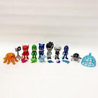 "PJ Masks 3"" Robot Catboy Owlette Gekko Luna Ninja Romeo Pets Figure Lot of 7"