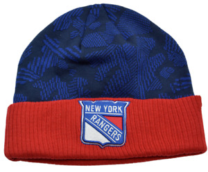 New York Rangers NHL Iconic Knit Cuffed Beanie Winter Hat by Fanatics