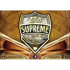 2013 Topps Supreme Baseball Factory Sealed Hobby Box Asia Exclusive
