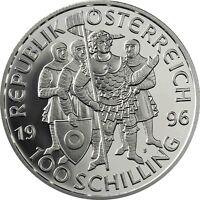 Österreich 100 Schilling 1996 Millenium Serie Markgraf Leopold III Proof Coin