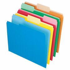 Office Depot File Folders, Letter Size, 1/3 Cut, Assorted Colors, Box Of 100 Fo