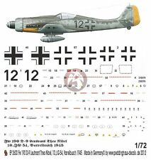 Peddinghaus 1/72 Fw 190 D-9 Markings Theo Nibel 10./JG 54 Germany 1945 WWII 2600