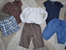 *Lot of 6* Boys 6-12M BabyGap Gymboree Bodysuits Kimono Shirt Bear Butt Pants