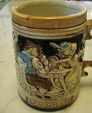 New listing 1/2 Gallon of Ale Stein/Jug made in Japan