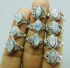 Rainbow Moonstone 925 Silver Overlay New Designer 10 pcs Ring Lot-10