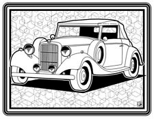 Coloring Page - Retro Car # 4 (Hi-Res JPG file will be sent by email)