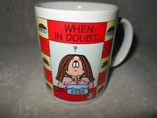 """New listing Fun gift for a chocoholic, """"When in doubt.eat chocolate"""" mug, by """"Cathy"""""""