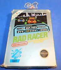 RAD RACER Nintendo NES CIB Complete Cart: Cleaned/ Tested