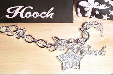 Hooch Silver Laced Charm Bracelet Star inlayed Diamante £24 BRAND NEW