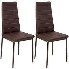 2x Sillas de comedor Juego elegantes sillas de diseño modernas cocina marrón NUE