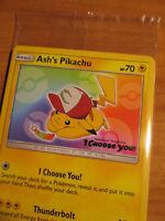 SEALED Pokemon ASH'S PIKACHU Card BLACK STAR PROMO Set SM108 I CHOOSE YOU Movie