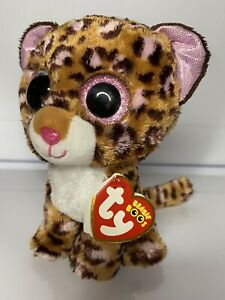 """TY Beanie Boo Patches the Leopard 6"""" BNWT"""