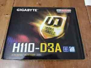 Gigabyte GA-H110-D3A ATX LGA 1151 Intel Mining Motherboard w/ IO Shield
