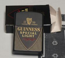Guinness Special Light Oil Lighter w/ Box NEVER USED Beer Officially Licensed