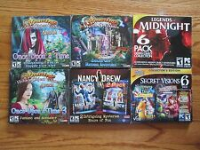 Set of 6 new PC DVD-ROM computer games Amazing Hidden Objects Mysteries Secret +