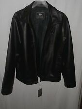 NEW EA Collection Italy Style Faux Leather Jacket, Zipper size Large