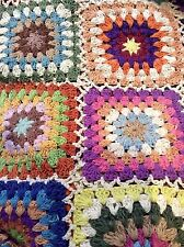 Huge Hand Crochet Throw Rug Blanket Cotton Multi Colours 150x225cm 60x88.5""