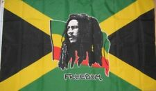 5ft x 3ft Large Bob Marley Freedom Jamaica Caribbean National Polyester Flag