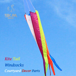 1.2m Rainbow Kite Tail Windsock Spinner Outdoor Yard Decor Kids Toy Accessories