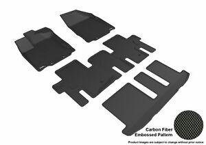 For 2014-2020 Infiniti QX60 Kagu Carbon Pattern Black All Weather Floor Mat