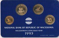 Kursmünzensatz Mazedonien 1993 KMS Macedonia, Makedonien, Nordmazedonien