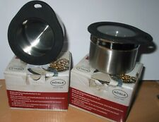 2 x  Rosle Stainless Steel Storage Canister/Jar with Airtight Lid 8cms BNIB