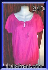 """NEW LADIES """"PINK BREEZE"""" BLOUSE BY STYLE & CO 100% COTTON SIZE L           #341"""