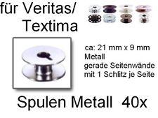 Bobines pour de nombreux veritas/textima, métal fente, 21x9 MM; 40 exemplaires!