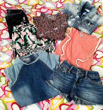 GIRLS CHILDRENS KIDS SUMMER CLOTHES BUNDLE (NEXT,GAP,RALPH LAUREN,RIVER I) X7