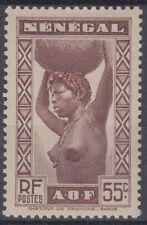 TIMBRE SENEGAL NEUF  N° 145 ** femme sein nue