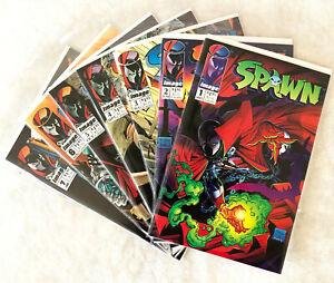 Spawn #1 #2 #3 #4 #5 #6 #7 Todd McFarlane Seven Issue Run Lot High Grade