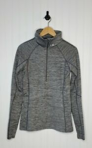 Under Armour Cold Gear Fitted Women's size Medium Half Zip Long Sleeve Gray