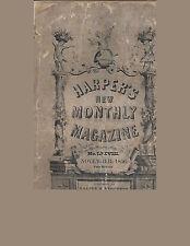 Harper's New Monthly Magazine 1856 Little Dorrit, Charles Dickens