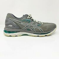 Asics Womens Gel Nimbus 20 T850N Grey Running Shoes Lace Up Low Top Size 9.5