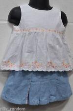 Abbigliamento casual bianco in misto cotone per bimbi