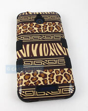 SAFARI LEOPARD PATTERN REINFORCED SHOCK TUFF CASE COVER FOR HTC DESIRE 510 512