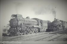 Commonwealth Railways Steam - CAR C 62 and CAR 76 at Pt. Augusta 1946
