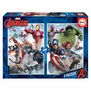 Marvel Avengers set of 2 500 piece jigsaw puzzles 480mm x 340mm (pl)