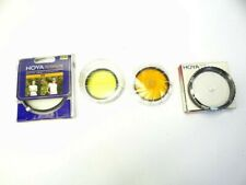 New in Box & Used Hoya Yellow Orange Clear 55mm 52 & 77.0S Camera Lens Filters