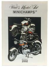 Minichamps PMA Model 2002 New Models Range Catalogue A4 Ed. 3 - Colour 23 Pages