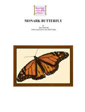 MONARK BUTTERFLY - cross stitch chart