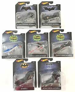 Hot Wheels DC Comics Batman 1:50 Scale Premium Vehicles 2017 (Set of 7)