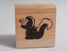 D.O.T.S. Wood Mounted Rubber Stamp Skunk - Dots E 148