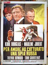 manifesto 2F film CATCH ME A SPY - PER AMORE... Kirk Douglas Marlene Jobert 1972