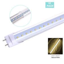 4FT T8 LED Tube Light Fluorescent Replacement Lamp 4000K Clear Lens 10-PACK
