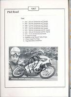 565214 / Motorrad Beleg Autogramm Phil Read